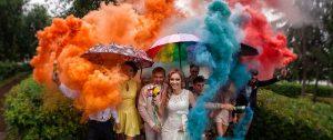 Цветной дым в Орле на свадьбу